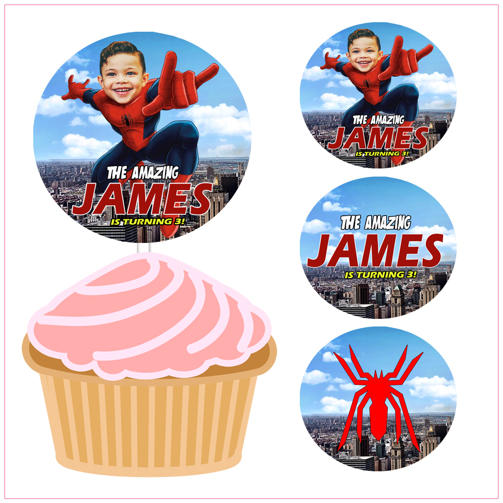 Groovy Cupcake Toppers Handy Shandy Designs Funny Birthday Cards Online Unhofree Goldxyz